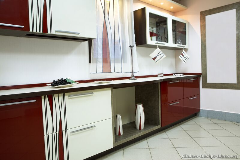 Kitchen Design Colours pictures of kitchens - modern - two-tone kitchen cabinets