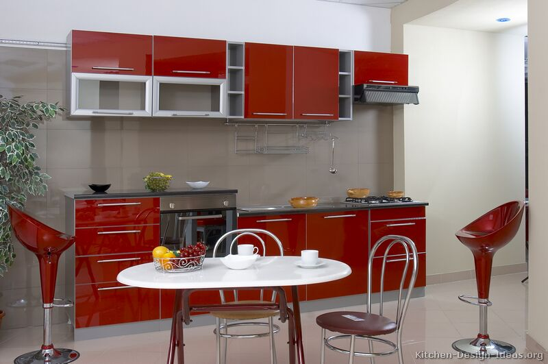 Pictures of Kitchens  Modern  Red Kitchen Cabinets (Page 2)