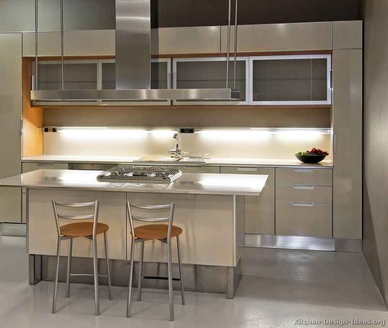 Pictures of kitchens modern beige kitchen cabinets for Modern kitchen cupboards