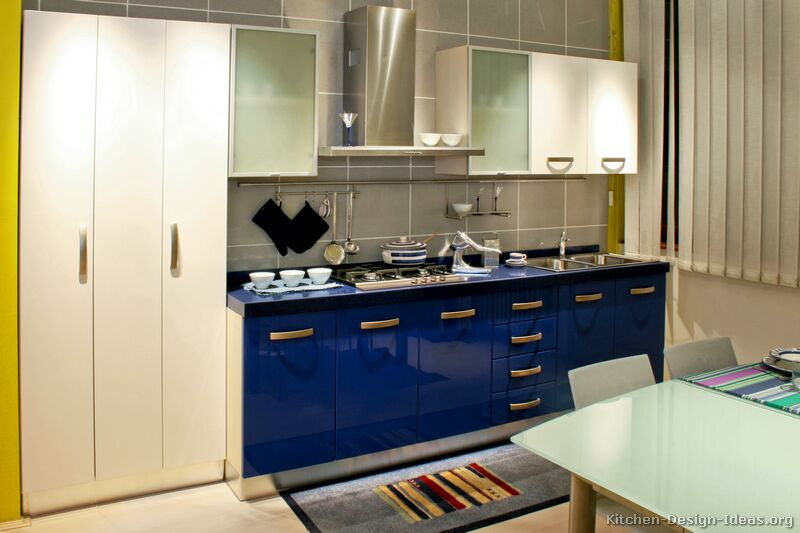 Photos  White And Blue Kitchen Modern Kitchen Designs White Kitchens