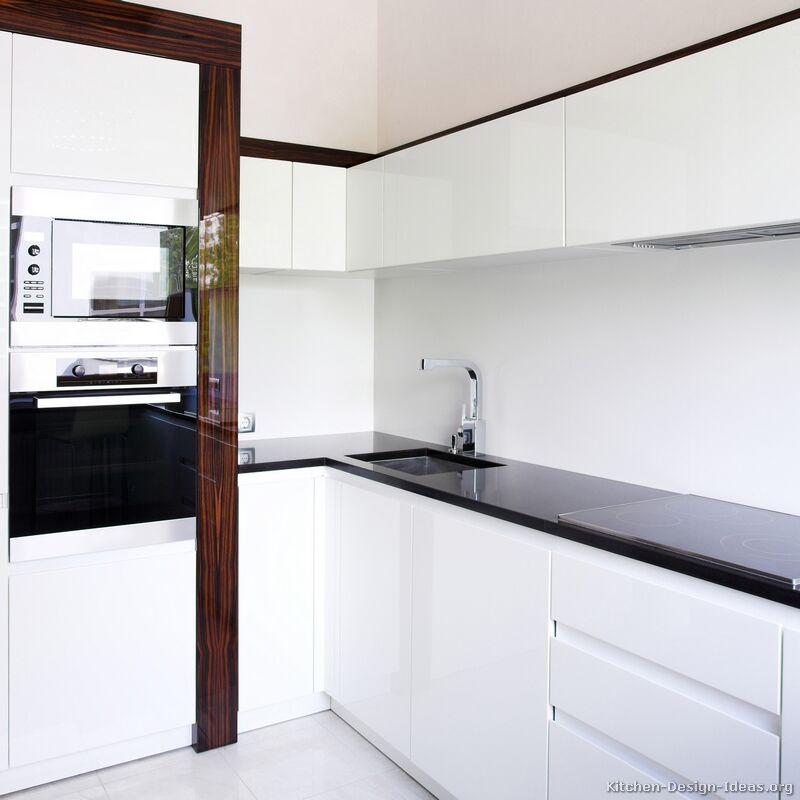 of Kitchens  Modern  Two Tone Kitchen Cabinets (Kitchen #41