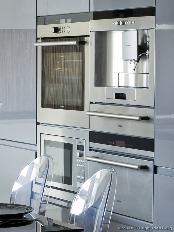 High class european kitchen cabinets with luxury appliances - Luxurious kitchen appliances ...