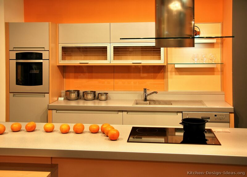 Pale Orange Kitchen pictures of modern orange kitchens - design gallery