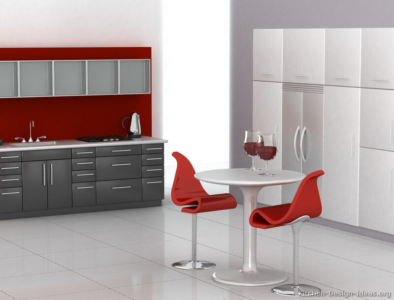 Pictures Of Kitchens Modern Gray Kitchen Cabinets - Gray and red kitchen ideas