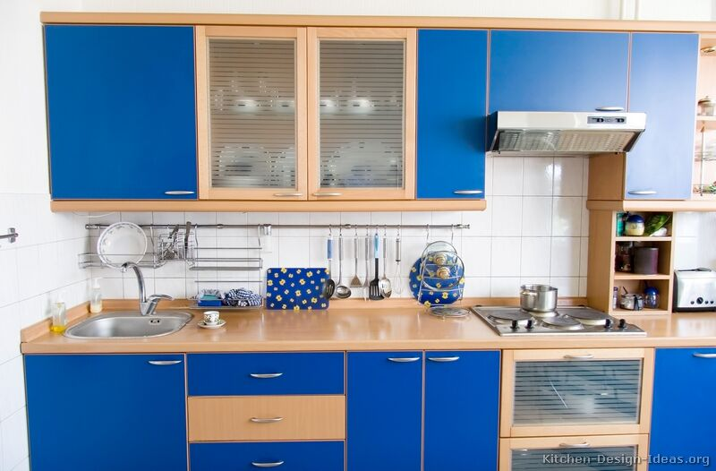 Modern Blue Kitchen Cabinets & Design Ideas