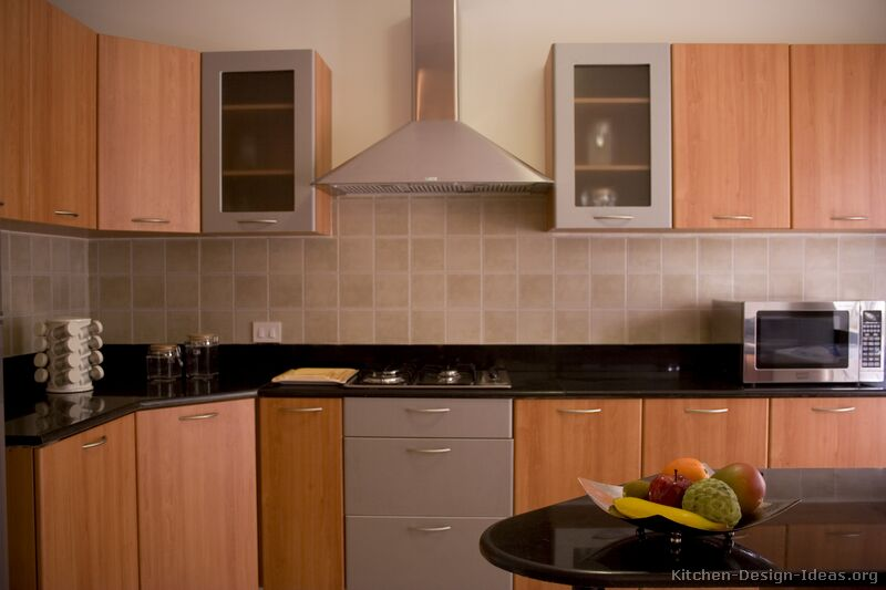 76 modern two tone kitchen - Modern Wood Kitchen Cabinets
