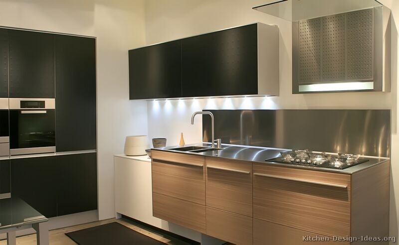 pictures of kitchens modern black kitchen cabinets. Black Bedroom Furniture Sets. Home Design Ideas