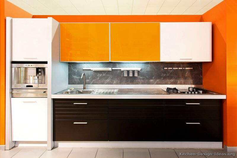 Kitchens Brown Kitchens And Black White Kitchens And Orange  Short