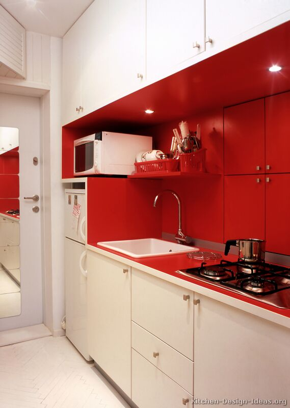 TT76 Modern Red Kitchen : white and red kitchen cabinets - Cheerinfomania.Com