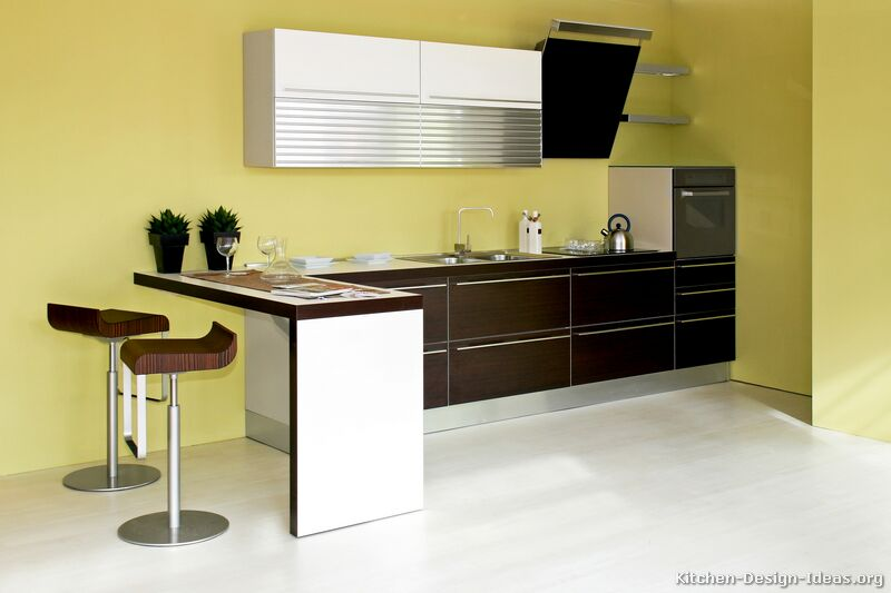Pictures of kitchens modern dark wood kitchens page 2 - Pitture lavabili per cucine ...