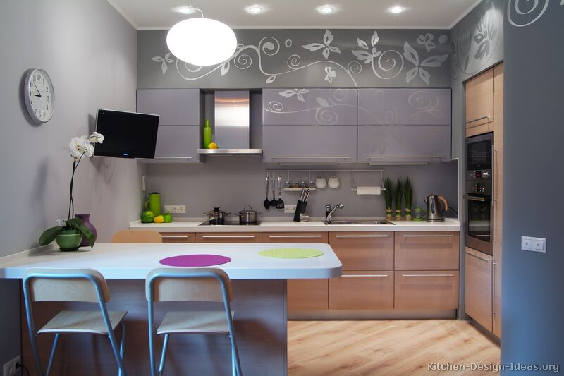 Pictures of Kitchens  Modern  Gray Kitchen Cabinets -> Kuchnia Z Jadalnią Inspiracje