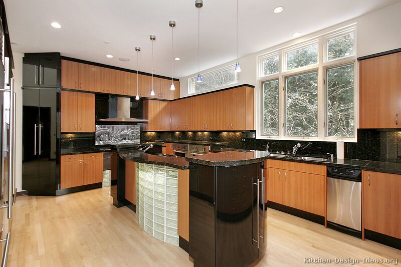 modern light wood kitchen - Modern Wood Kitchen Cabinets