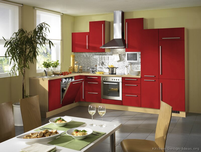 Kitchen Ideas Red pictures of kitchens - modern - red kitchen cabinets (page 2)