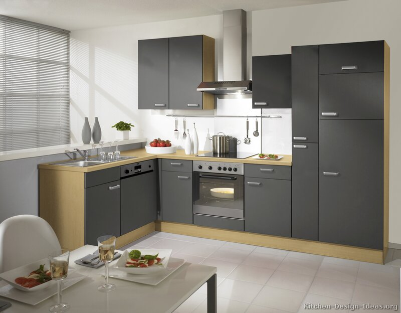 Pictures of kitchens modern gray kitchen cabinets for Light grey modern kitchen