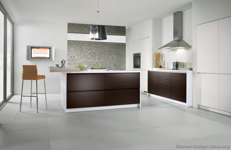 Dark Wood Modern Kitchen dark wood kitchen ideas - destroybmx