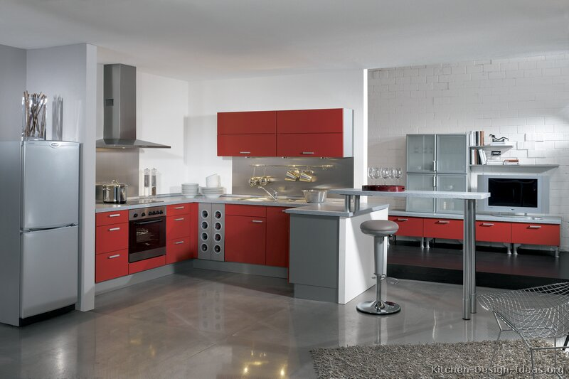 Captivating TT162 [+] More Pictures · Modern Red Kitchen