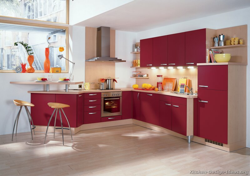 28+ [ red kitchens with white cabinets ] | red and white kitchen