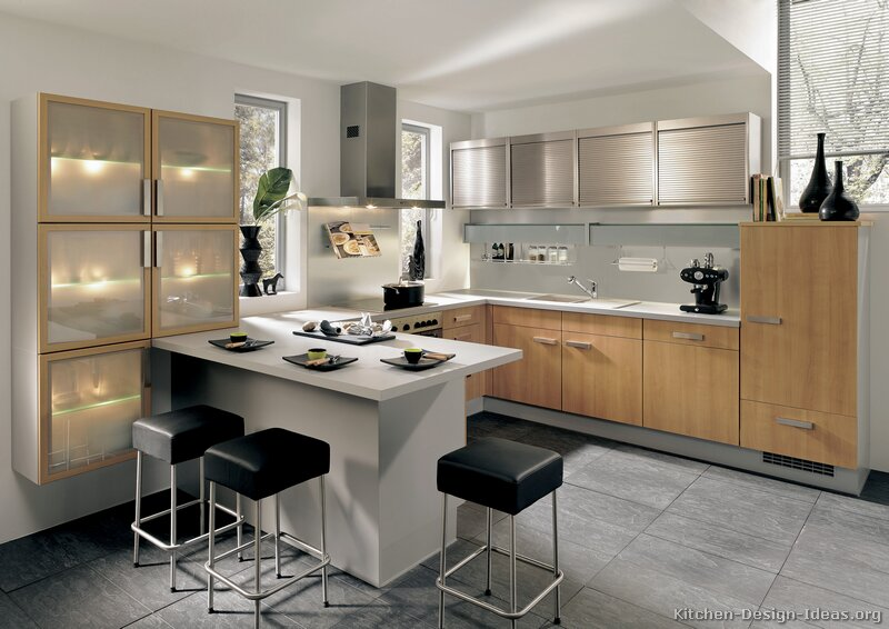 Pictures of Kitchens  Modern  Light Wood Kitchen Cabinets (Page 3)