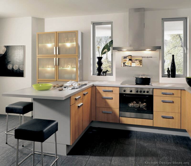 Pictures Of Kitchens Modern Two Tone Kitchen Cabinets Kitchen 166