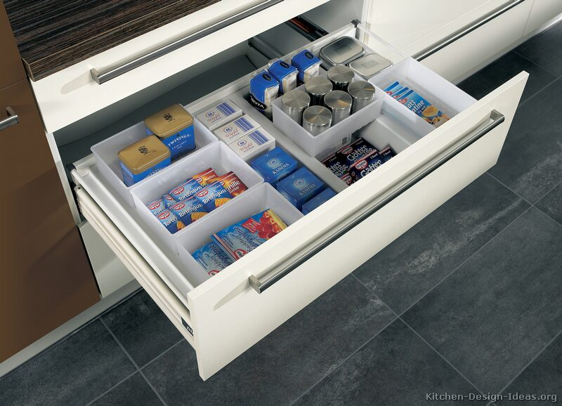 One of the most popular ways to organize a kitchen is to start with a good drawer divider system.