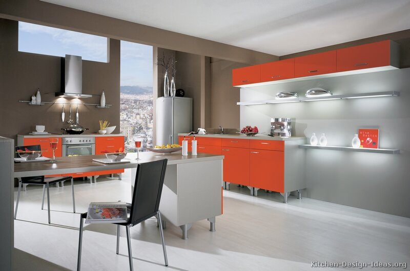 Red Orange Kitchen pictures of modern orange kitchens - design gallery