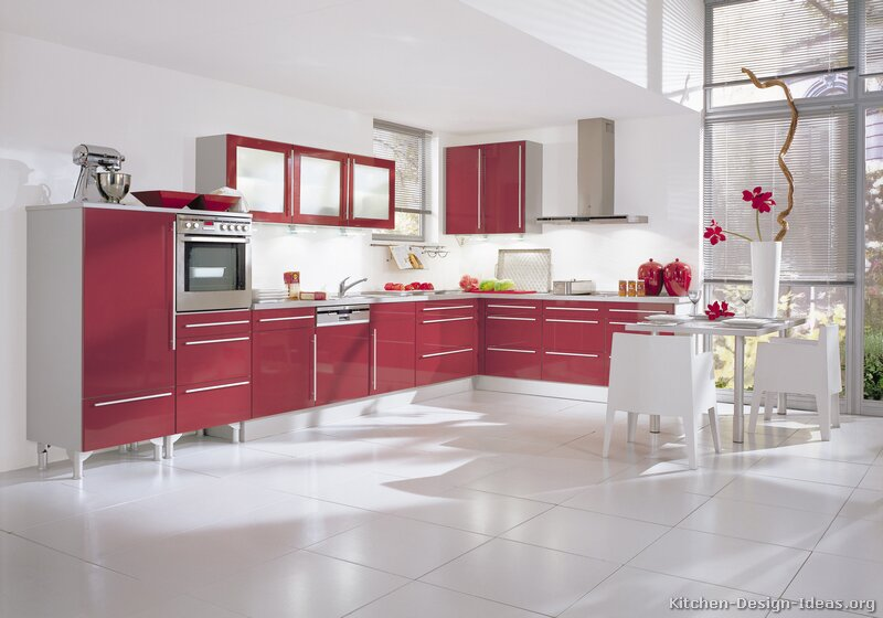 TT180 [+] More Pictures · Modern Red Kitchen