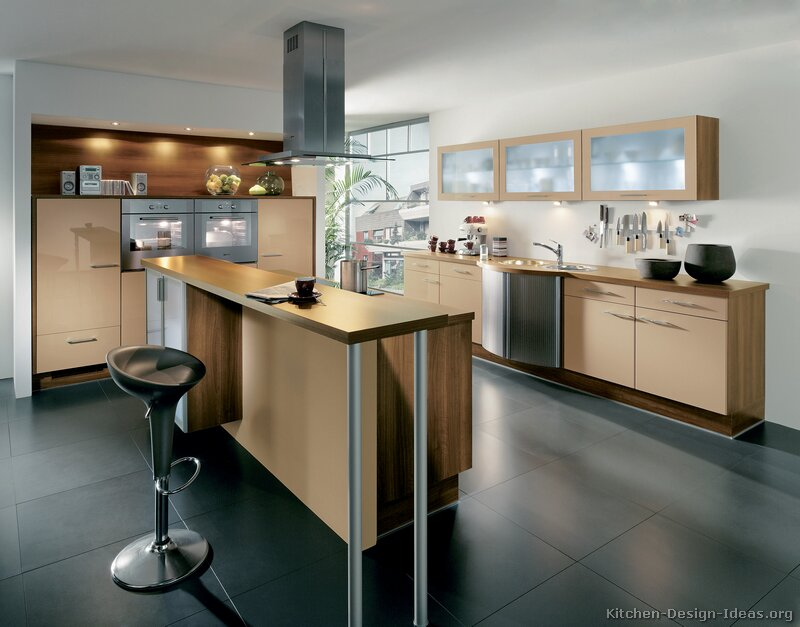 Pictures of Kitchens - Modern - Two-Tone Kitchen Cabinets (Kitchen #186)