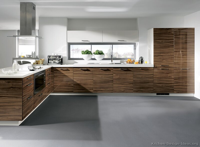 Kitchen idea of the day modern dark wood kitchens for Modern day kitchen designs