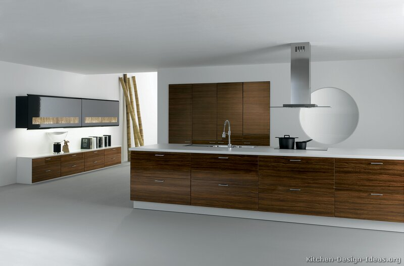 Pictures of kitchens modern dark wood kitchens page 3 for Decorate top of kitchen cabinets modern