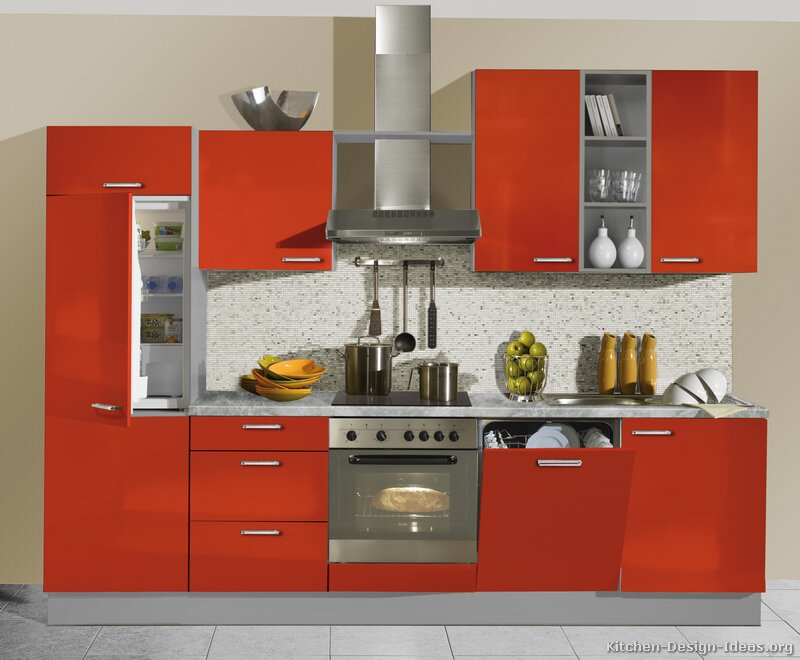 Kitchen Cabinets Designs, Red Kitchen Cabinets, Red Kitchens, Kitchen