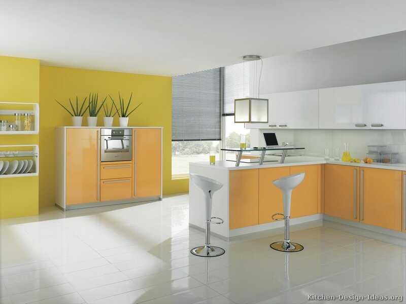Plan for your kitchen Kitchen design yellow and white
