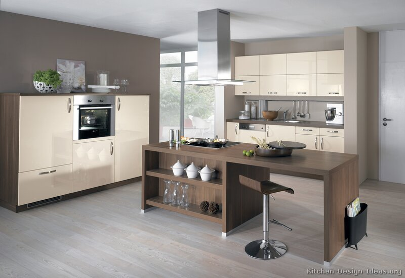 white kitchen DARK floors Best design for your Kitchen