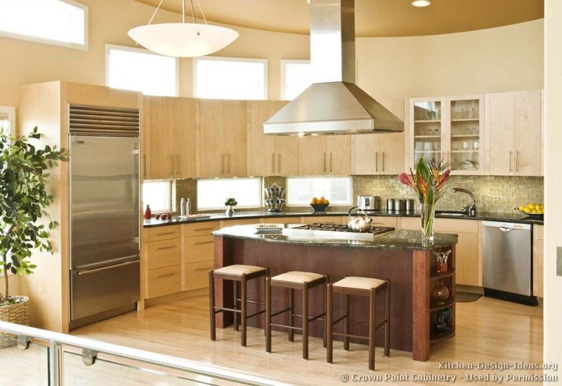 Http Www Kitchen Design Ideas Org Pictures Of Kitchens Modern Two Tone Kit238 Html
