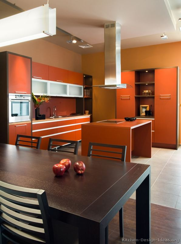 of Kitchens  Modern  Two Tone Kitchen Cabinets (Kitchen #241
