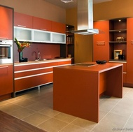 Modern Orange Kitchen