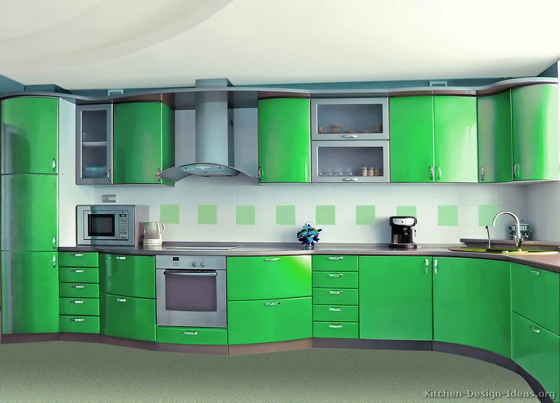 Tt245 More Pictures Modern Green Kitchen