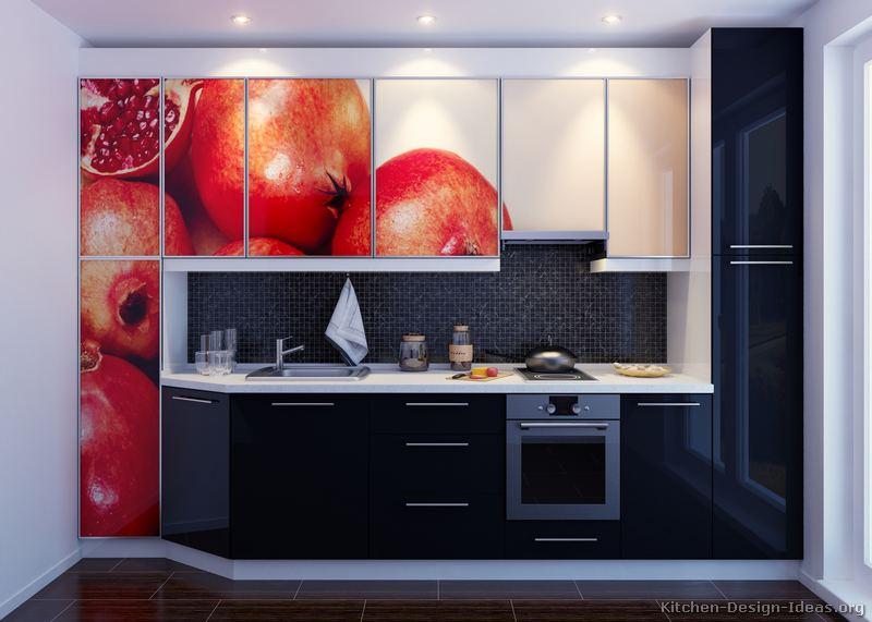 Pictures of kitchens modern black kitchen cabinets for Cream black kitchen designs