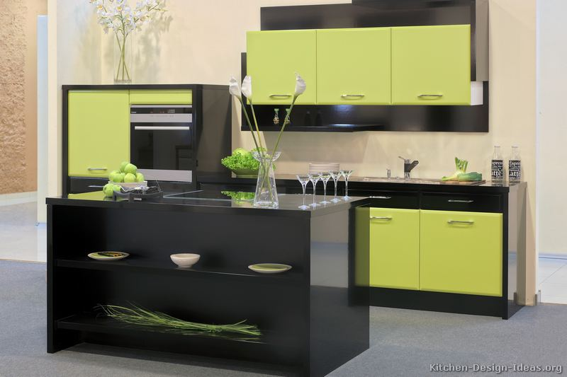 tt255 modern green kitchen - Dark Green Kitchen Designs