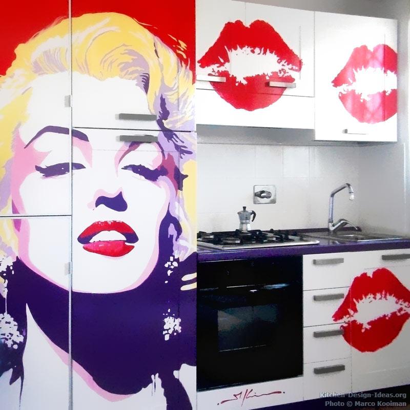 kitchen-cabinets-modern-two-tone-292-mk012-marilyn-monroe-pop-art-kitchen-mural.jpg