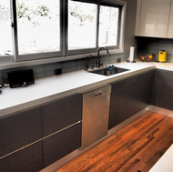 Modern Black and White Kitchen - Designer Kitchens LA