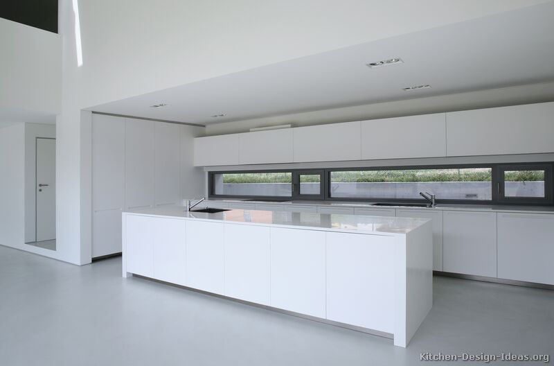 Pictures of kitchens modern white kitchen cabinets for Contemporary kitchen sinks ideas