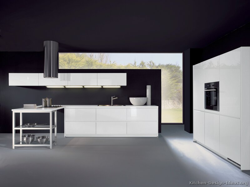 Pictures of kitchens style modern kitchen design for Black kitchen walls