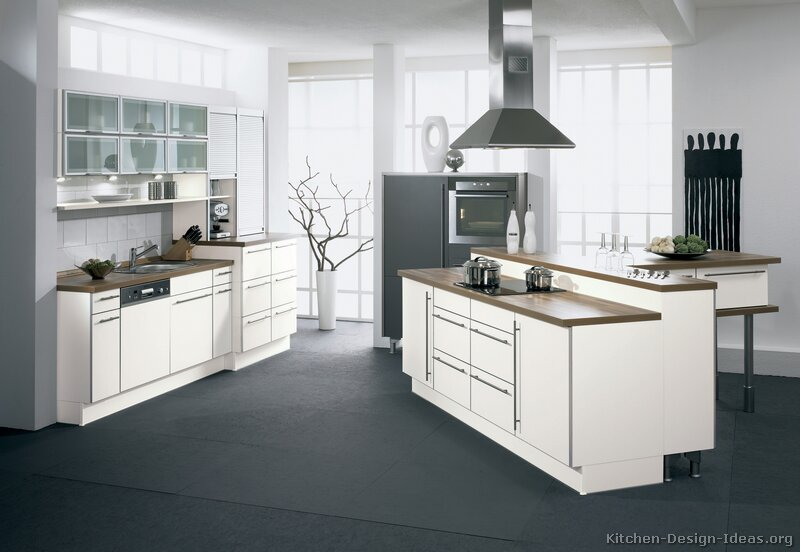 modern white kitchen - Modern Kitchen White Cabinets