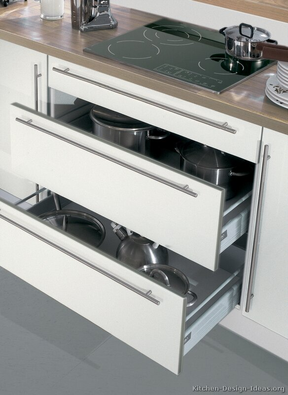 Pictures of kitchens modern white kitchen cabinets kitchen 13 Drawers in kitchen design
