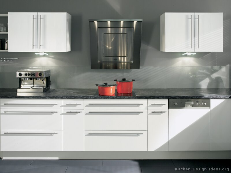 Modern Grey And White Kitchens modern white kitchen cabinets looking wood best of design c inside