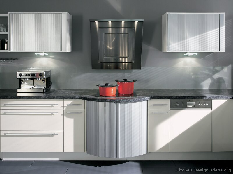 Pictures of kitchens modern white kitchen cabinets for Modern kitchen cabinets
