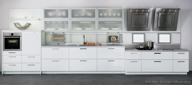 Modern White Cabinets Kitchen