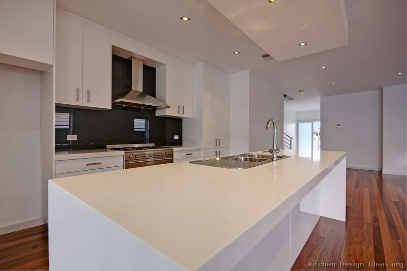 of Kitchens Modern White Kitchen Cabinets