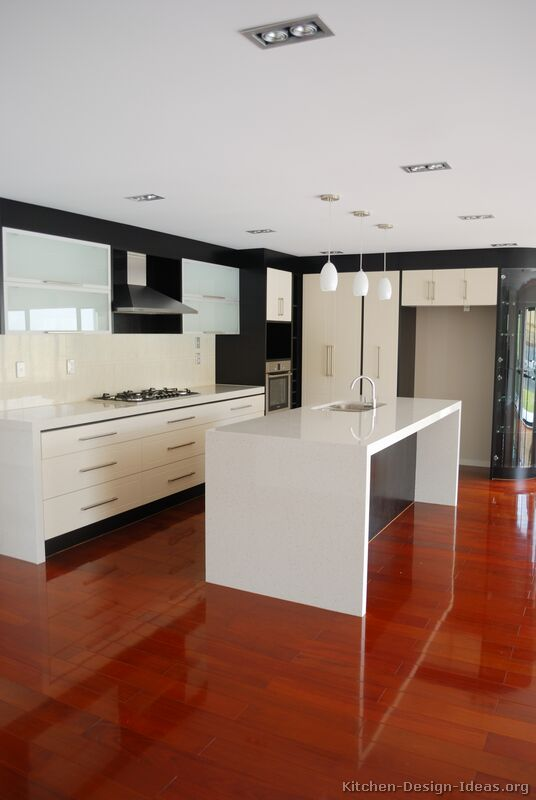 Pictures of kitchens modern white kitchen cabinets for Modern kitchen designs with island