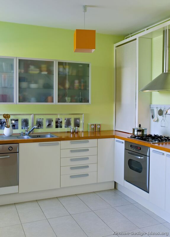 Pictures of kitchens modern white kitchen cabinets for Kitchen colour palette ideas